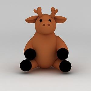 3d<font class='myIsRed'>儿童玩具</font>玩偶小鹿模型