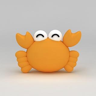 儿童玩具小螃蟹玩偶3d模型