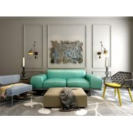 时尚蓝色布艺沙发套装3D模型3d模型