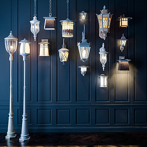 歐式燈具組合模型