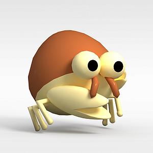 3d<font class='myIsRed'>儿童玩具</font>玩偶螃蟹模型