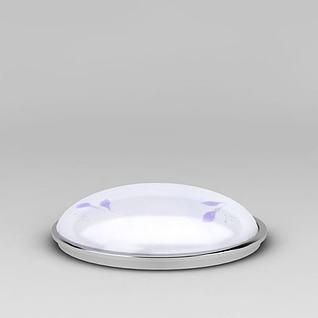 简约白色吸顶灯3d模型