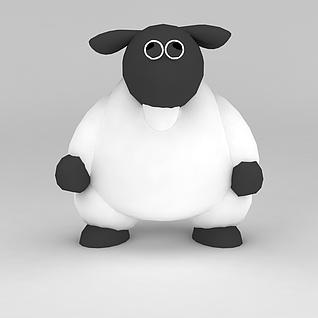 儿童玩具玩偶小羊3d模型