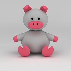 3d<font class='myIsRed'>儿童玩具</font>玩偶小猪模型