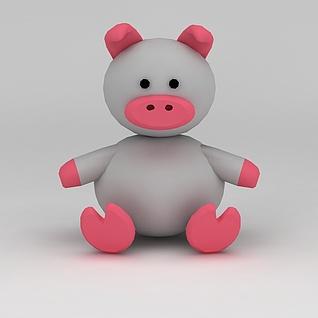 儿童玩具玩偶小猪3d模型