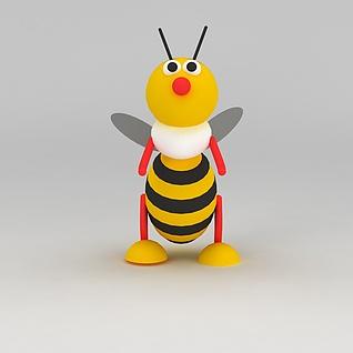 儿童玩具玩偶蜜蜂3d模型