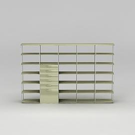 大型书柜书架3d模型