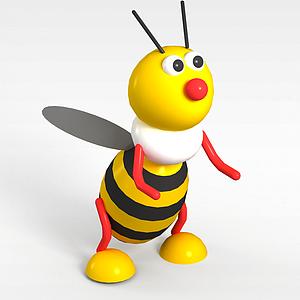 3d<font class='myIsRed'>儿童玩具</font>玩偶蜜蜂模型