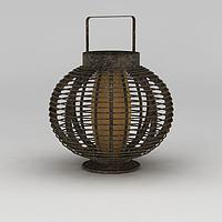 铜制复古灯笼3d模型