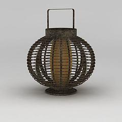 铜制复古灯笼模型3d模型