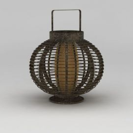 铜制复古灯笼模型