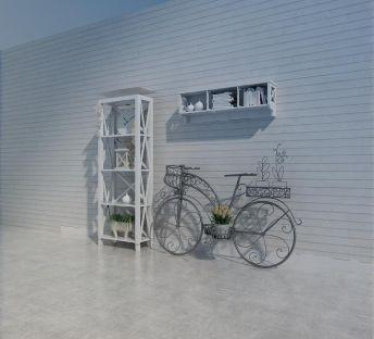 现代白色储物架墙架