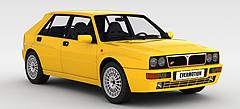 黄色汽车模型3d模型