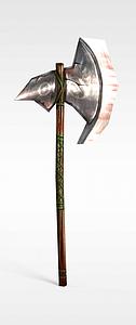 游戏赤壁游戏道具装备战斧模型3d模型