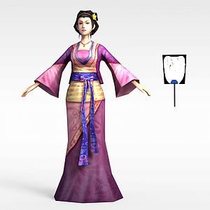 游戲赤壁動漫游戲人物女人模型3d模型