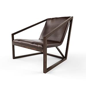 3d北欧?#30340;?#20241;闲椅子模型