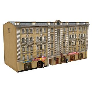 美式建筑楼3d模型
