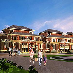 歐式別墅房屋建筑模型3d模型
