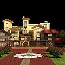 欧式建筑别墅模型