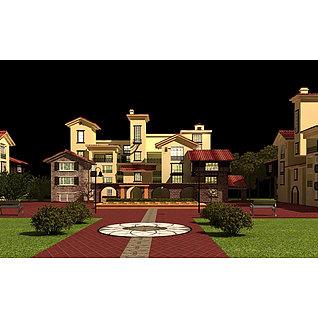 欧式建筑别墅3d模型3d模型