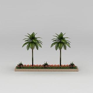 园林景观小品大花坛3d模型3d模型