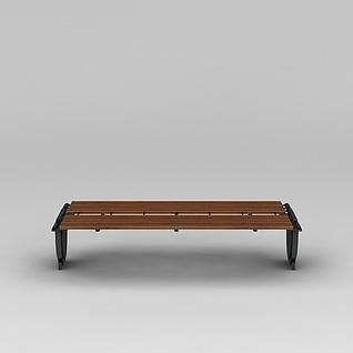 商业小品公园长凳3d模型
