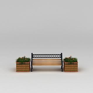 园林景观小品长凳长椅3d模型3d模型