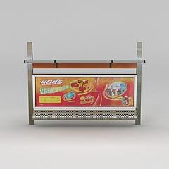 商业小品公交站牌模型3d模型