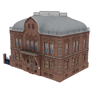 欧式居民楼建筑3d模型3d模型