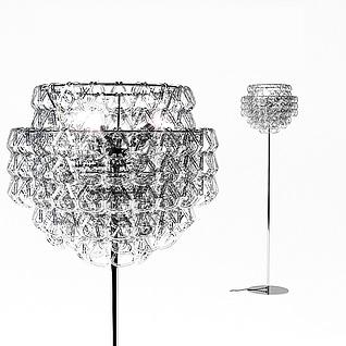 大型水晶落地灯3d模型