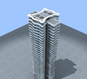 现代住宅大楼