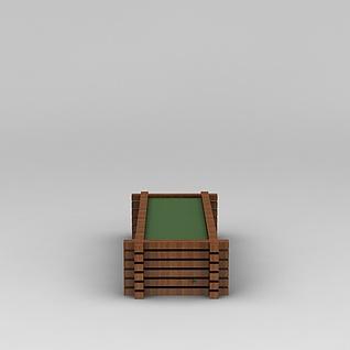 园林景观小品花坛3d模型3d模型