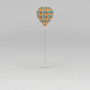 节日装饰品气球模型3d模型
