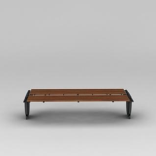 商业小品公园长椅休息凳3d模型3d模型