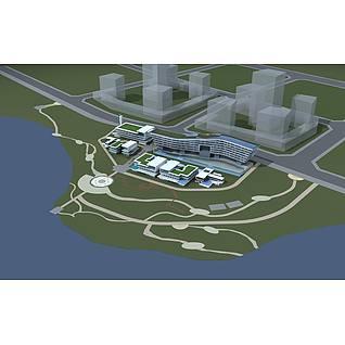综合商业大楼3d模型3d模型