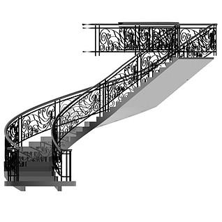 旋转豪华楼梯3d模型