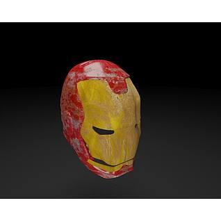 钢铁侠头盔面具3d模型3d模型