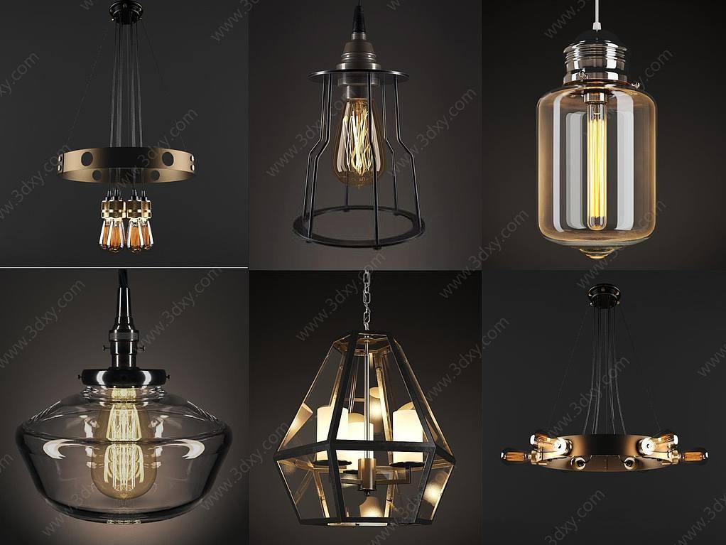 現代創意吊燈組合