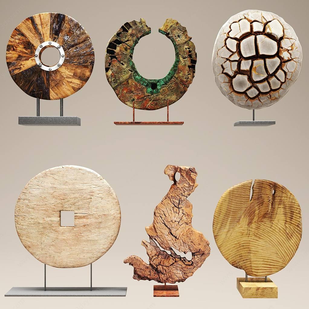 石头雕刻摆件陈设饰品