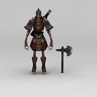 赤壁动漫游戏人物骷颅人战士3d模型