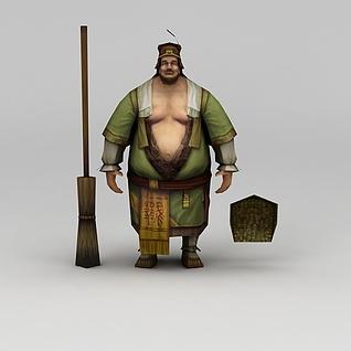赤壁动漫游戏人物男人3d模型