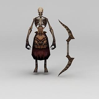 赤壁动漫游戏角色骷颅人3d模型