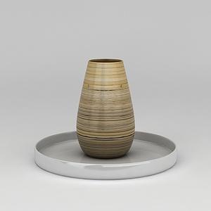 陶藝罐子花瓶模型3d模型