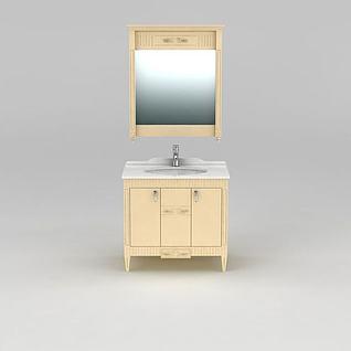 美式浴室柜3d模型3d模型