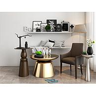 时尚金色茶几休闲椅组合3D模型3d模型