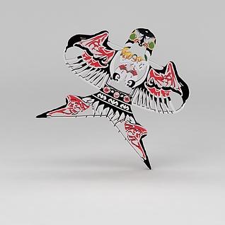 中式风筝3d模型