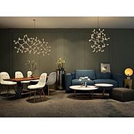 时尚蓝色布艺沙发茶几组合3D模型3d模型