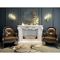 欧式皮沙发椅3D模型3d模型