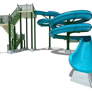 水上乐园儿童乐园3d模型
