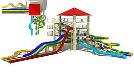 儿童乐园水上乐园模型